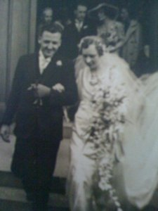 George and Nancy Watson on their wedding day